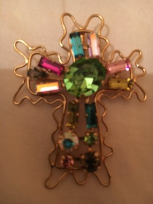 Christian Lacroix Brooch multicolored