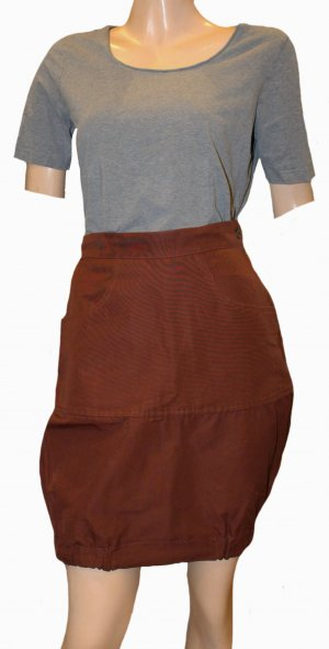 Christian Lacroix Balloon Skirt brown cotton