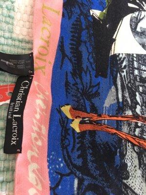 Christian Lacroix Foulard en soie multicolore