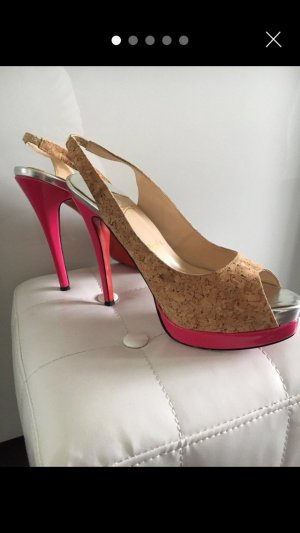 Christian Louboutin High-Front Pumps pink-nude