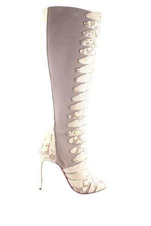 Christian Louboutin Absatz Stiefel beige-hellbraun Animal-Look