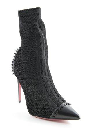 Christian Louboutin Ankle Boots schwarz-rot Elegant