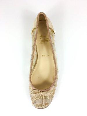 Christian Louboutin Ballerinas Mokassins Gr. 37,5 Beige