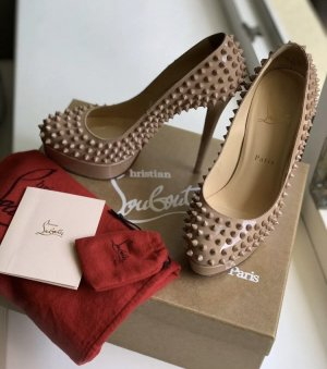 big sale 53b85 2f594 Christian Louboutin Bianca Spikes 140 nude 38