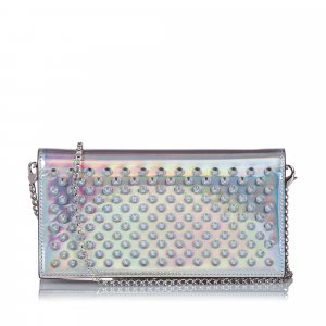 Christian Louboutin Wallet silver-colored leather