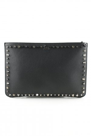 "Christian Louboutin Clutch ""Loubi Clutch Con Zip Black/Multimetal"""