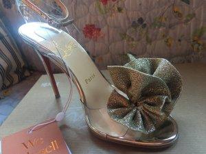 Christian Louboutin High Heel Sandal sand brown leather