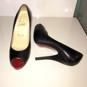 Christian Louboutin Gr. 38 schwarze High Heels Pumps