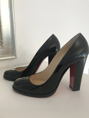 Christian Louboutin London B 100 Patent Black Pumps