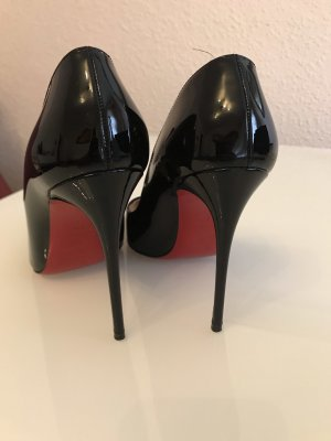 Christian Louboutin Pointed Toe Pumps black leather