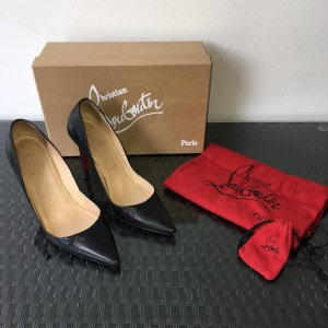 Christian Louboutin Pumps High Heels Schwarz 37 New Decoltissmo Pigalle