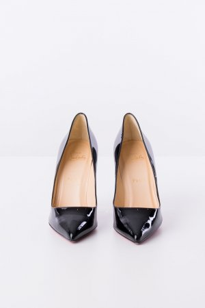 Christian Louboutin - Pumps Pigalle Follies 100 Patent Schwarz