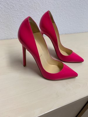 CHRISTIAN LOUBOUTIN Pumps So Kate 120 Patent,Gr.38 ein Traum in Pink Top Zustand
