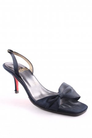Christian Louboutin Strapped High-Heeled Sandals dark blue vintage products