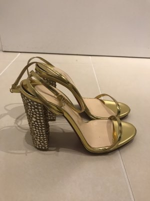 Christian Louboutin Dianette sandalen goud