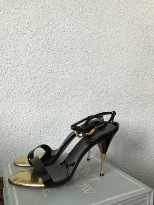 Christian Louboutin High Heel Sandal black-gold-colored