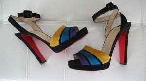 Christian Louboutin High Heel Sandal multicolored suede
