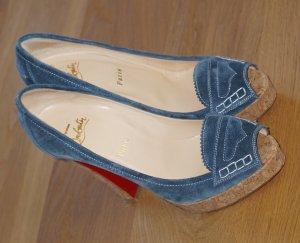 Christian Louboutin Schuhe Kork/Jeans