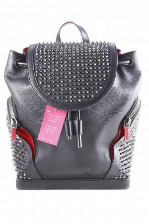 "Christian Louboutin Zaino per la scuola ""Explorafunk Calf Empire Backpack Black Multi"""