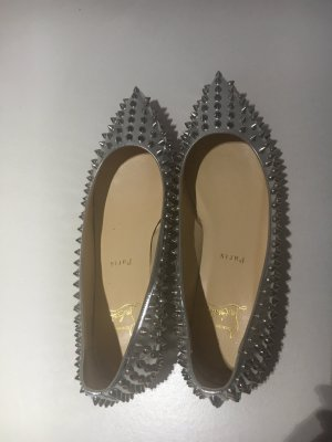 Christian Louboutin silver Pigalle flat