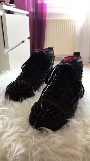Christian Louboutin High Top Sneaker black-dark red