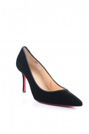 "Christian Louboutin Spitz-Pumps ""Decoltish 85 Velvet Pumps Black"" schwarz"