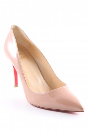 "Christian Louboutin Spitz-Pumps ""Pigalle 85 Patent Pump Nude"" nude"