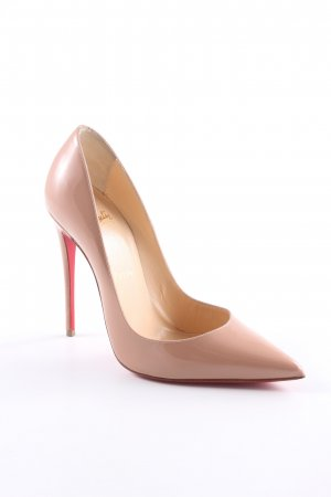 "Christian Louboutin Décolleté a punta ""So Kate 120 Patent Leather Pumps Nude"""