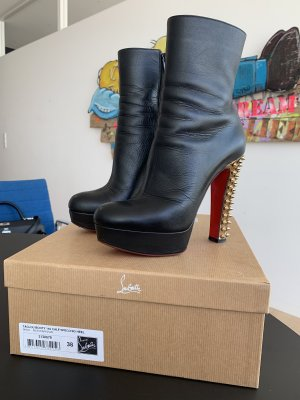 Christian Louboutin Ankle Boots black-gold-colored leather