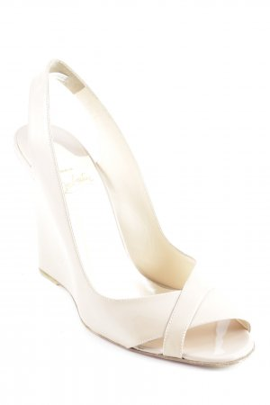 Christian Louboutin Wedge Sandals nude elegant
