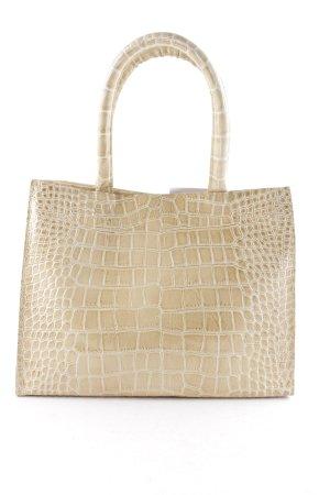 Christies À Porter Handbag sand brown animal pattern vintage look