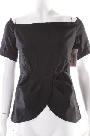 Christina Duxa Carmenshirt schwarz klassischer Stil