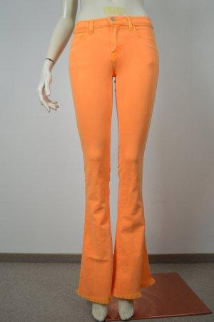 CHRISTOPHER KANE FOR J BRAND Jeans Gr. W25 Orange Denim Schlaghose