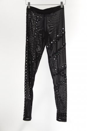 Christopher Kane Leggings schwarz-silberfarben extravaganter Stil
