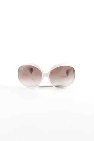 Chrome Hearts eckige Sonnenbrille weiß-bronzefarben extravaganter Stil