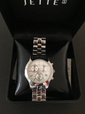 Chronograph Jette Uhr Metallband Silber