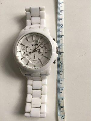 Chronometer aus Keramik in Weiß von Fossil