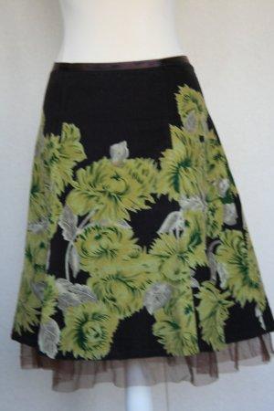 Falda midi multicolor Algodón