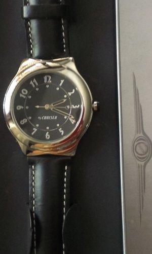 Mercedes Benz Collection Reloj con pulsera de cuero negro-color plata