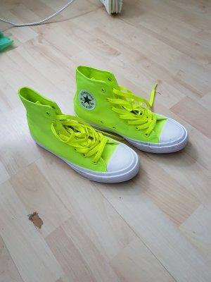 chucks converse neon gelb 39