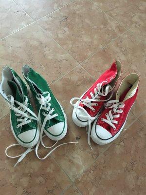 Chucks hoch in rot und grün nicht getragen, neuwertig