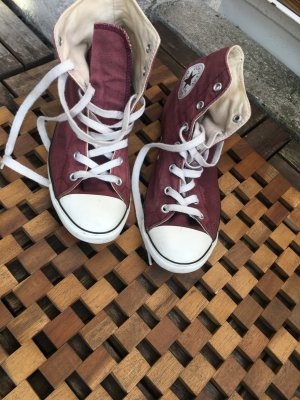 Chucks  in purpur Flache Sohle Gr.37,5