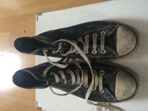Chucks Leder schwarz Gr 40