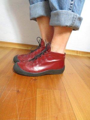 chunky Burgundy AGL Stiefel High Top Sneaker Gr. 36,5/37 Lederboots Attilio Giusti Leombruni High Top Sneaker Echtleder