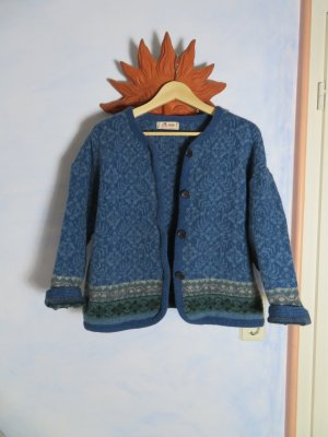 Vintage Noors vest veelkleurig Scheerwol