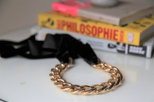 Asos Link Chain gold-colored-black metal