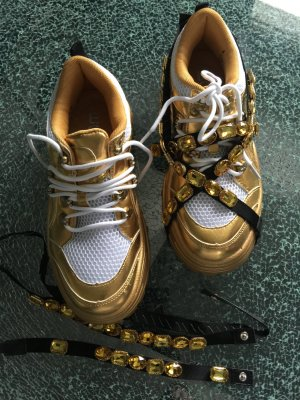 Chunky Sneaker EGO Kristalle gold 39 neu!!!