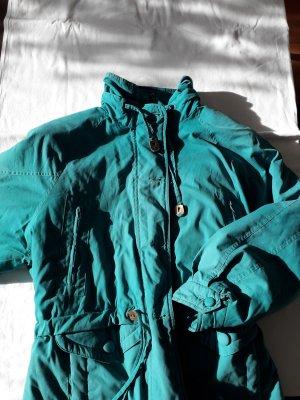 Vintage Chaqueta holgada turquesa-azul cadete