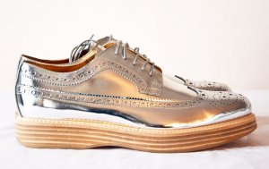 Church's Lace Shoes silver-colored leather