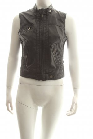 Ci Sono By Cavalini Leather Vest black street-fashion look